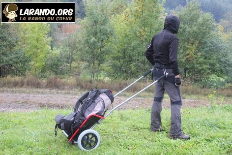 Test de chariot de randonnée
