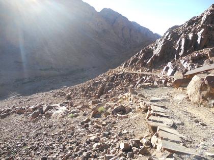 Sentier rocheux