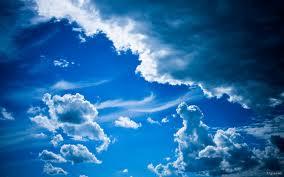 ciel bleu randonnee