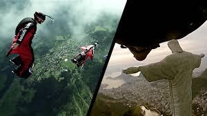 Christ Rédempteur  Rio de Janeiro bresil wingsuit