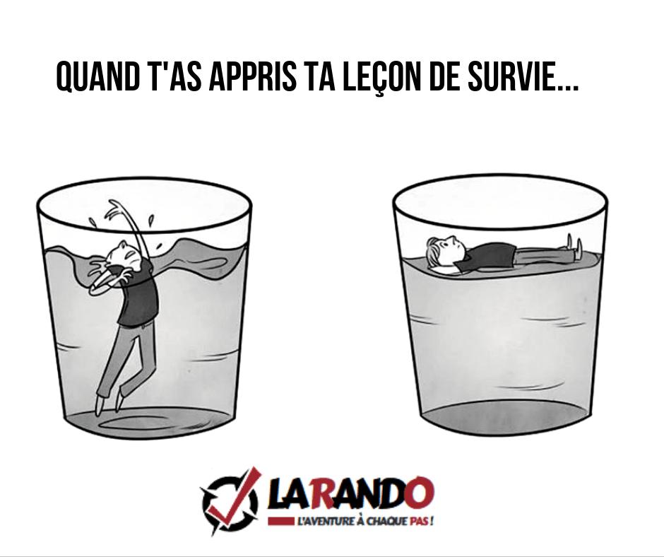 Stage de survie avec La Rando